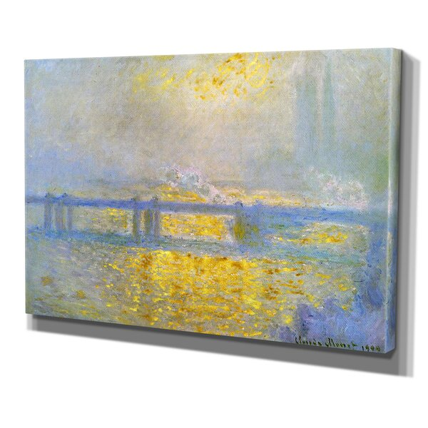 Charing Cross Bridge by Claude Monet Print of Painting on Wrapped Canvas by Wexford Home