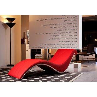 Coalpit Heath Leather Chaise Lounge  by Orren Ellis