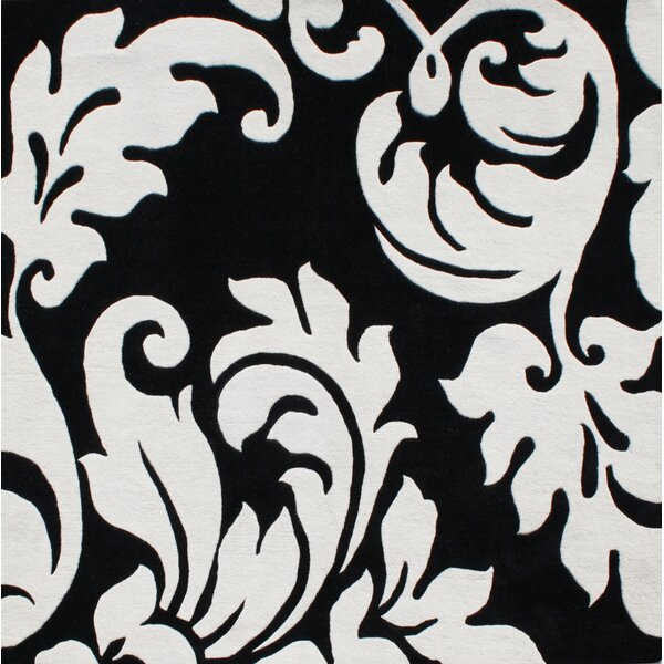 Hand-Tufted Black/White Area Rug by The Conestoga Trading Co.