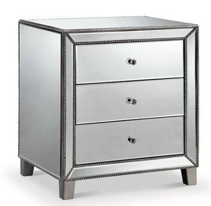 Brookland 3 Drawer Nightstand by Everly Quinn