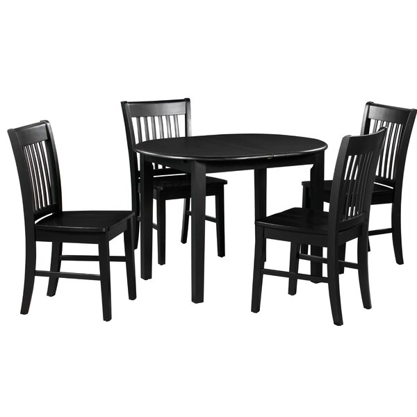 Spillers 5 Piece Extendable Solid Wood Dining Set By Winston Porter Cheap