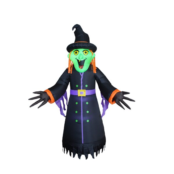 Halloween Inflatable Witch by The Holiday Aisle