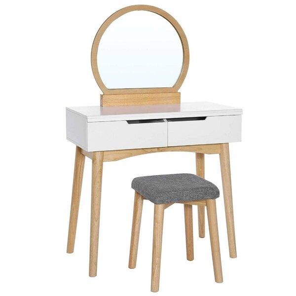 Allanton Wooden Vanity Set with Mirror by Latitude Run