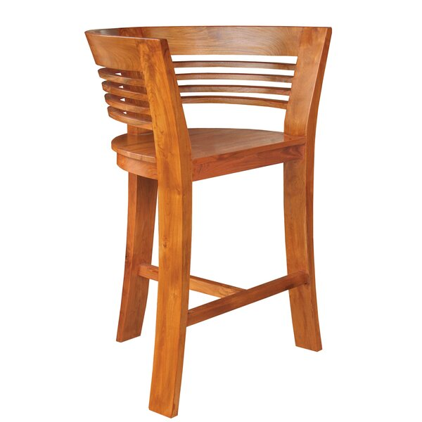Half Moon Teak Bar Stool by Chic Teak