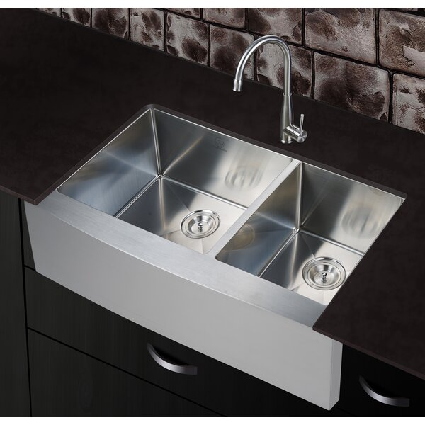 36 x 21 Farmhouse Apron Kitchen Sink by dCOR design