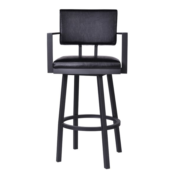 Nakagawa 30 Swivel Bar Stool by Williston Forge