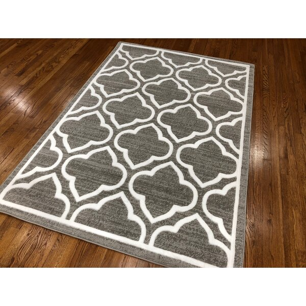 Hilger Dark Gray Area Rug by Charlton Home