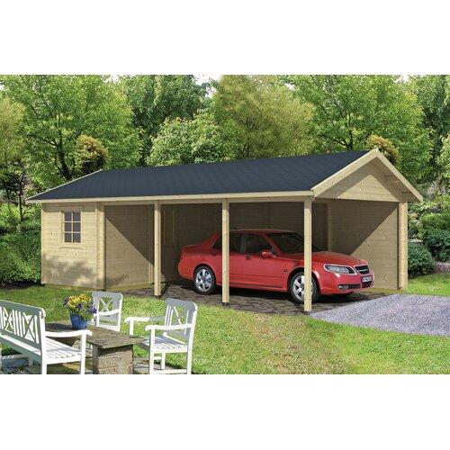 7 5 m x 4 5 m Garage Kreitzer Garten Living Dach: Rechteckig Braun  Boden: Mit Fußboden - 18 mm  Fundament: Mit Fundament   Baumarkt > Garagen und Carports   Garten Living