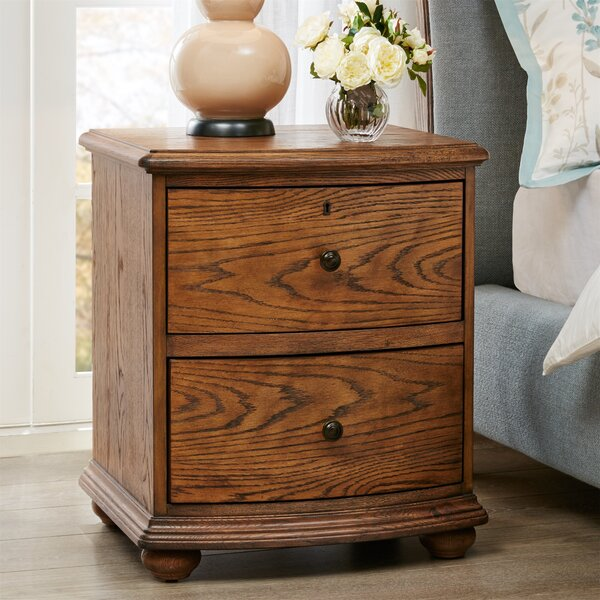 Cascade Bedside 2 Drawer Nightstand by Harbor House