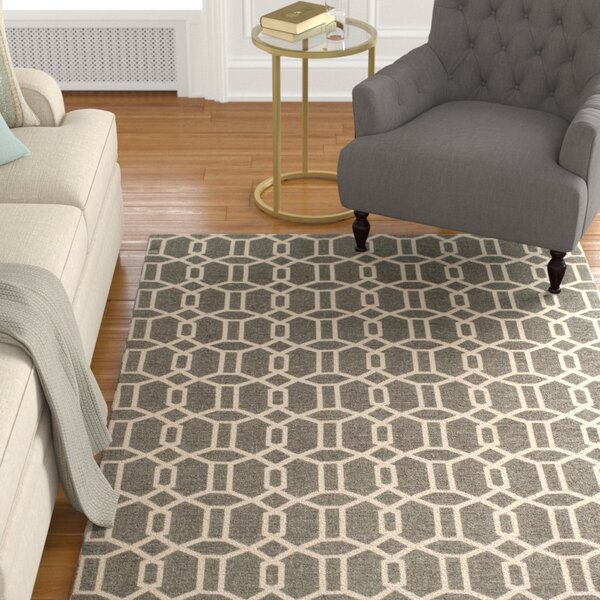 Charing Cross Hand-Woven Gray/Beige Area Rug by Charlton Home