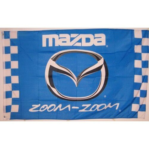 Mazda Zoom Checkered Polyester 3 x 5 ft. Flag by NeoPlex