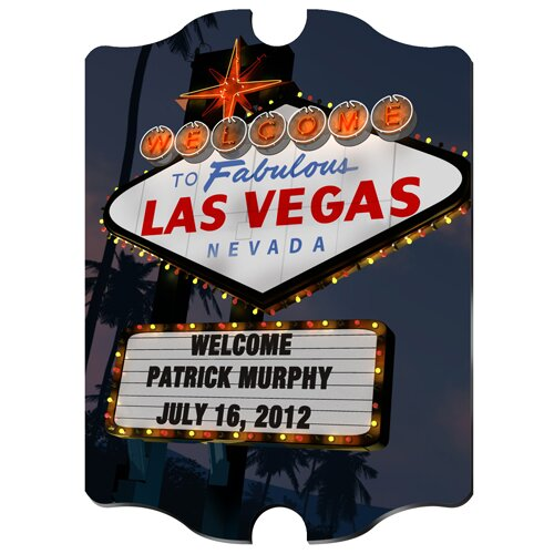 Personalized Gift Vegas Marquee Photographic Print by JDS Personalized Gifts