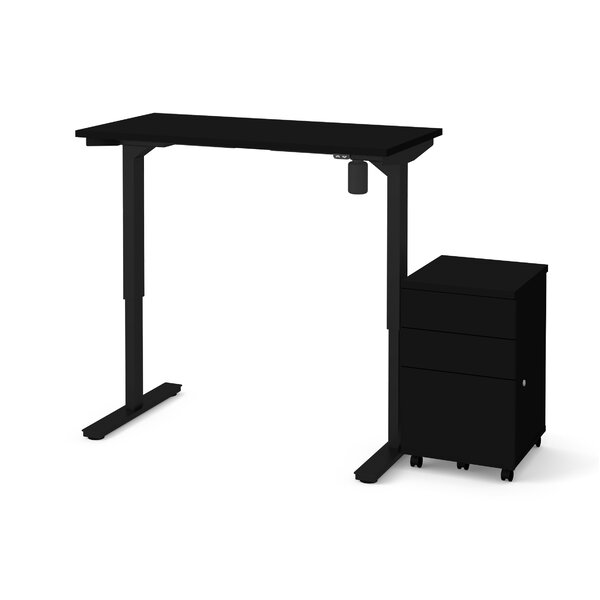 Tanya 2 Piece Electric Height Adjustable Desk Office Suite by Symple Stuff