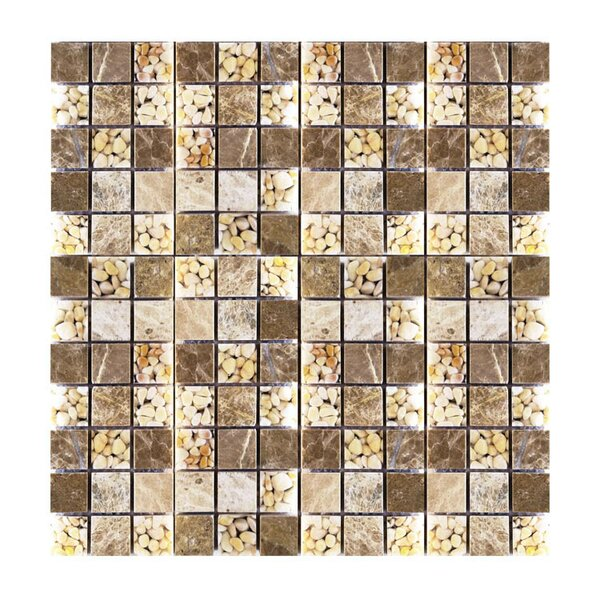 1 x 1 Glass Mosaic Tile in Brown by QDI Surfaces