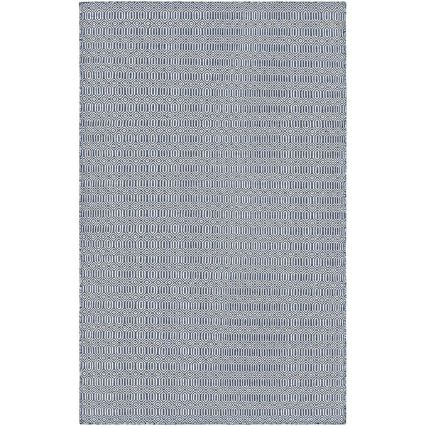 Alonso Hand-Woven Gray/Blue Indoor/Outdoor Geometric Area Rug by Viv + Rae