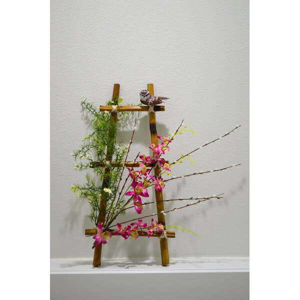 """Ladder 22"""" Pink Floral Swag by August Grove"""