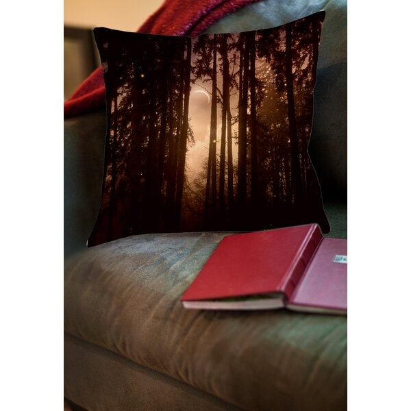 Forest Skyline Printed Throw Pillow by Manual Woodworkers & Weavers