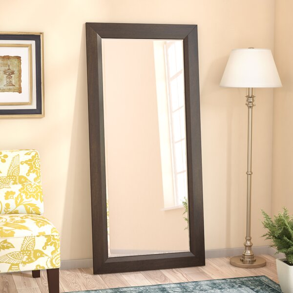 Fenmore Rectangle Deep Walnut Beveled Wall Mirror by Three Posts