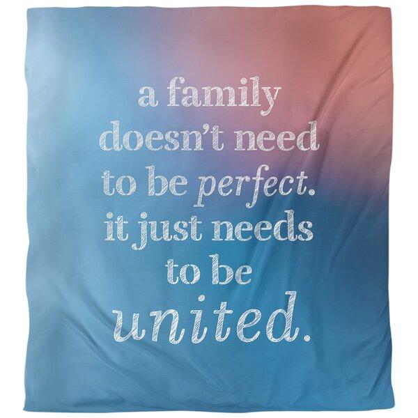 Family Love Quote Single Duvet Cover