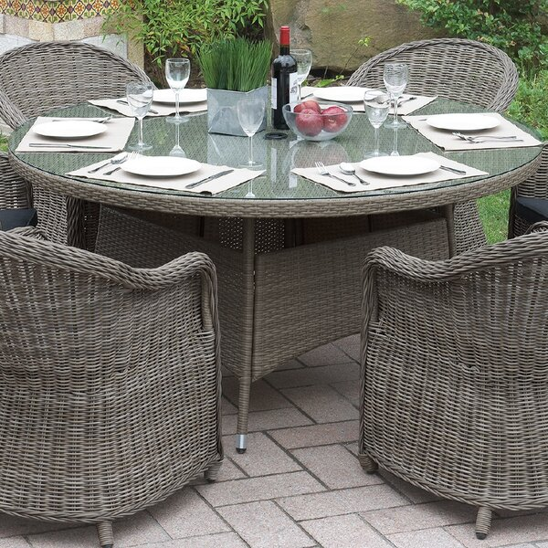 Filippo Wicker Dining Table by One Allium Way