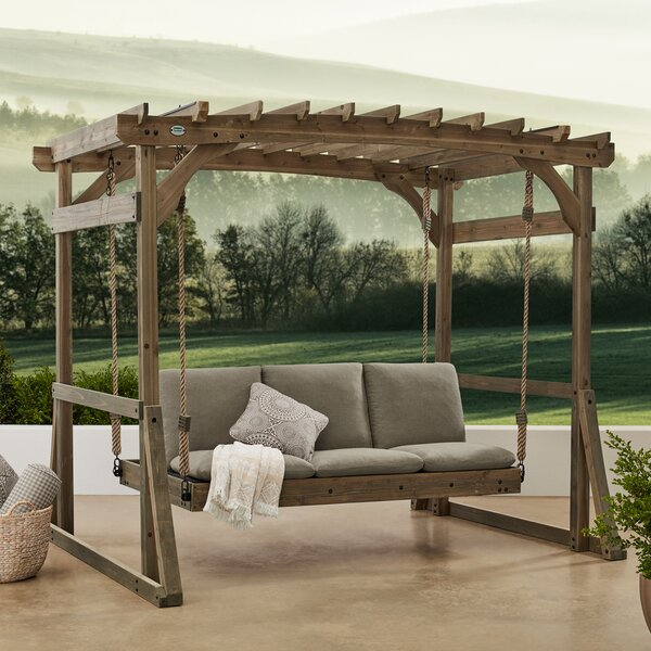 Claremont Pergola Lounger Porch Swing with Stand by Backyard Discovery Backyard Discovery
