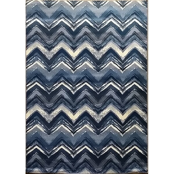 Geren Dark Blue Area Rug by Bloomsbury Market