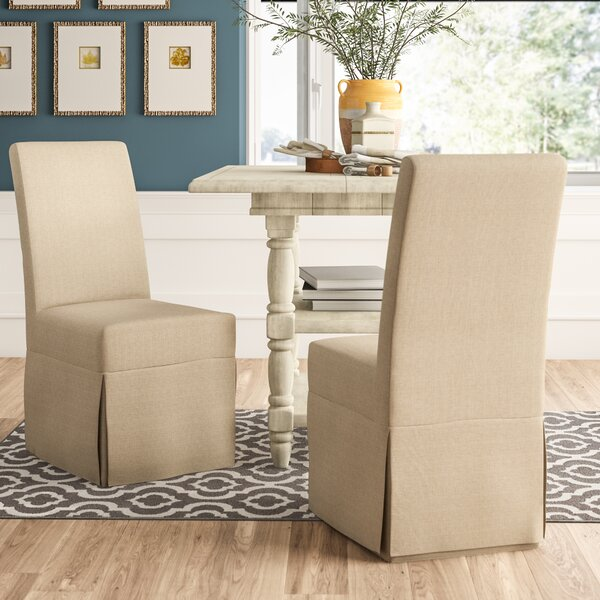 Alcester Linen Upholstered Dining Chair In Beige (Set Of 2) By Birch Lane™ Heritage