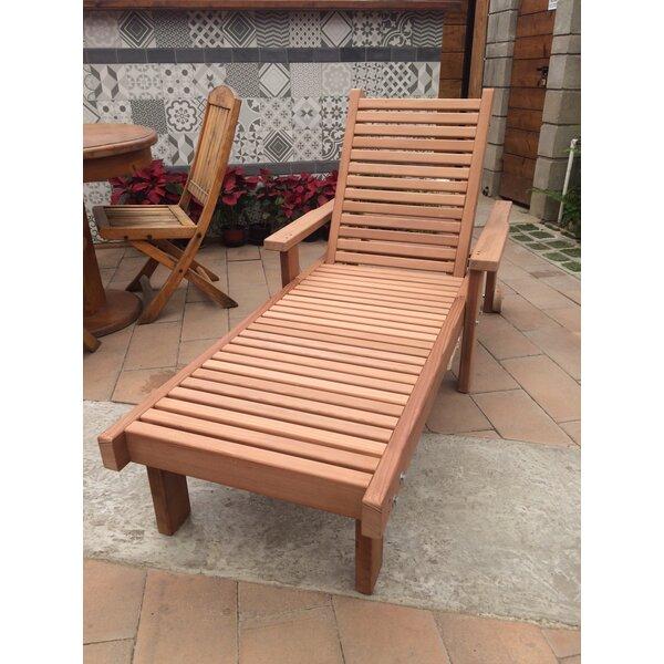 Varda Rustic Wood Chaise Lounge by Orren Ellis