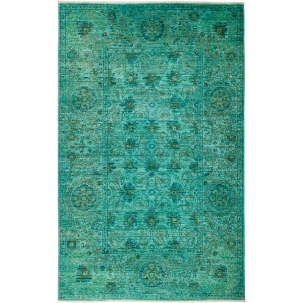 One-of-a-Kind Courter Hand Knotted Green Area Rug by Bungalow Rose