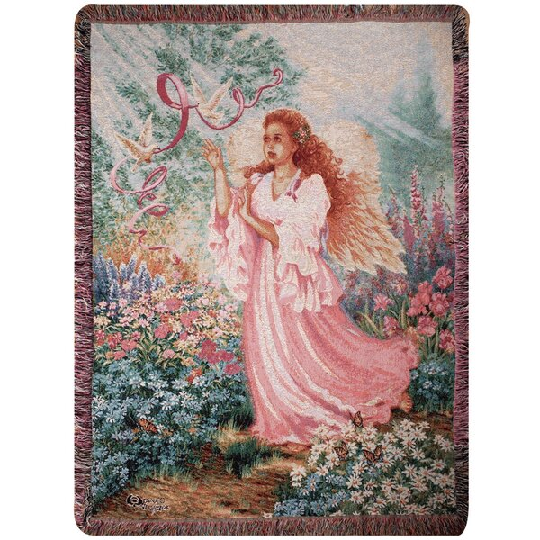 Dawn of Hope Tapestry Cotton Throw by Manual Woodworkers & Weavers