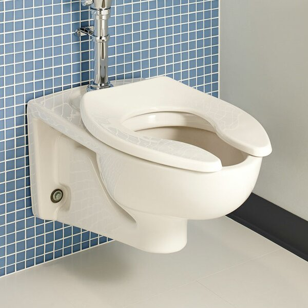 Afwall Flush 1.6 GPF Elongated Toilet Bowl by American Standard