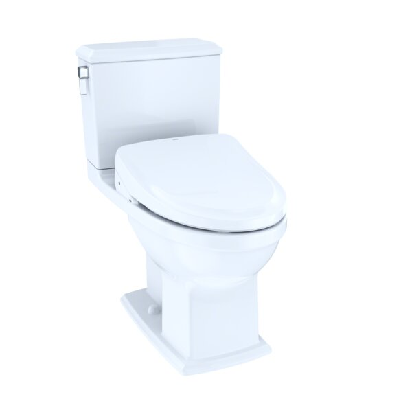 Connelly Dual Flush Elongated Two-Piece Toilet with Ewater+ by Toto