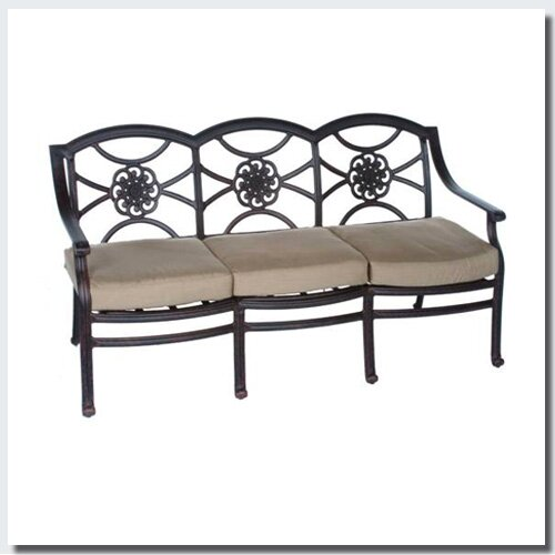Ross Patio Sofa with Sunbrella Cushions by Fleur De Lis Living