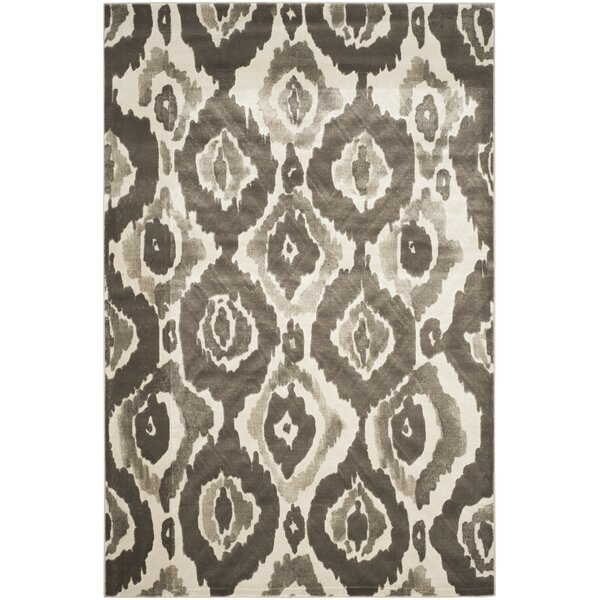 Twilley Ivory / Dark Gray Area Rug by Brayden Studio