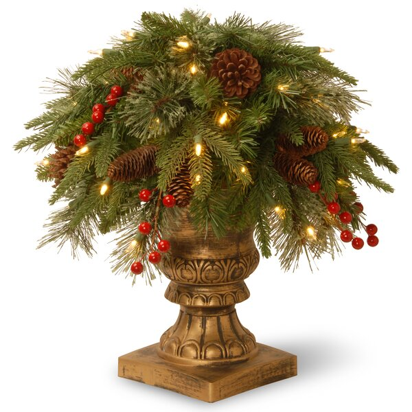 Porch Bush Foliage Topiary in Urn by The Holiday Aisle
