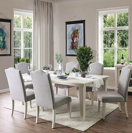"Calila 7 Piece Extendable Solid Wood Dining Set by Birch Laneâ""¢ Heritage"