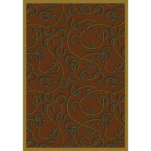 Affordable Price Brown/Black Area Rug ByThe Conestoga Trading Co.