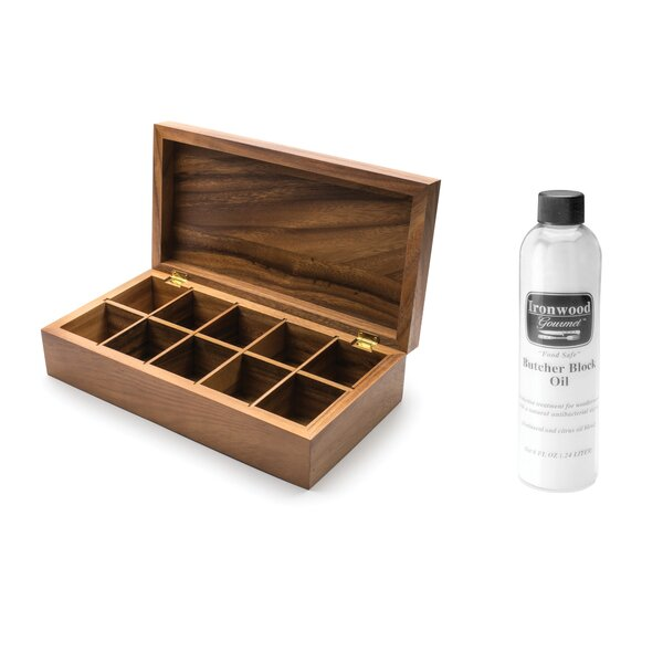 Ironwood Tea Box and Butcher Block Oil (Set of 5) by Ironwood Gourmet