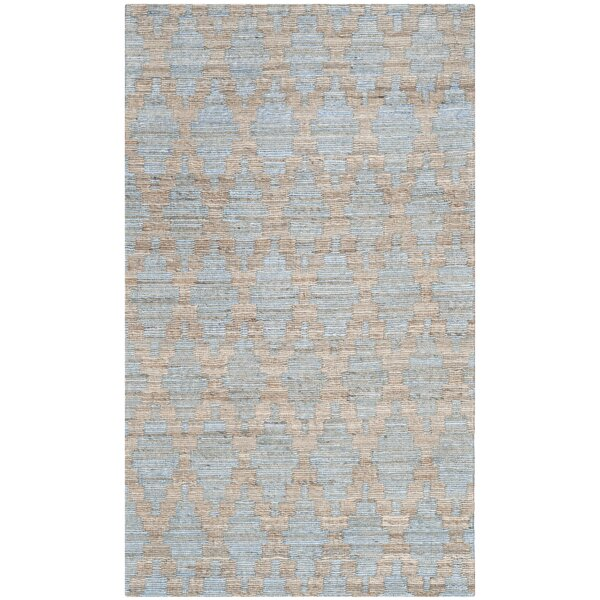 Montserrat Meigs Hand-Woven Light Blue/Gold Area Rug by Bay Isle Home