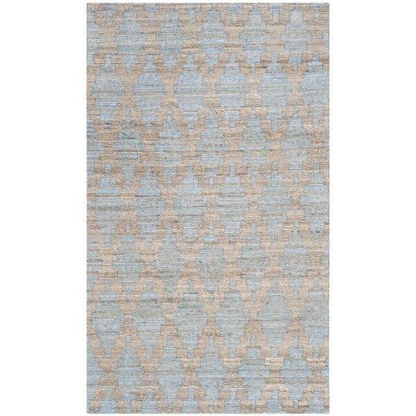 Montserrat Meigs Hand-Woven Light Blue/Gold Area R