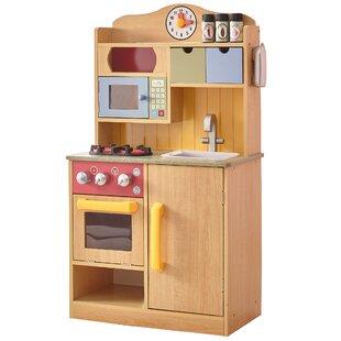Little Chef Burlywood Kitchen Set With Accessories