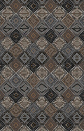 Fontaine Black/Gray Area Rug by Loon Peak
