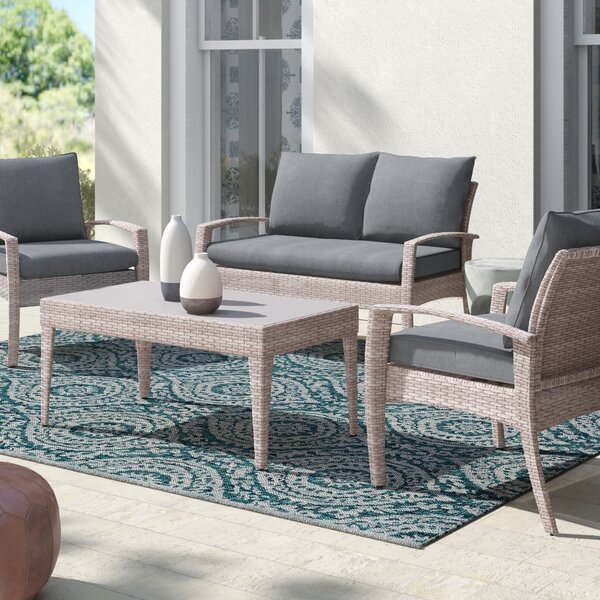 Montes 4 Piece Sofa Seating Group With Cushions By Mistana
