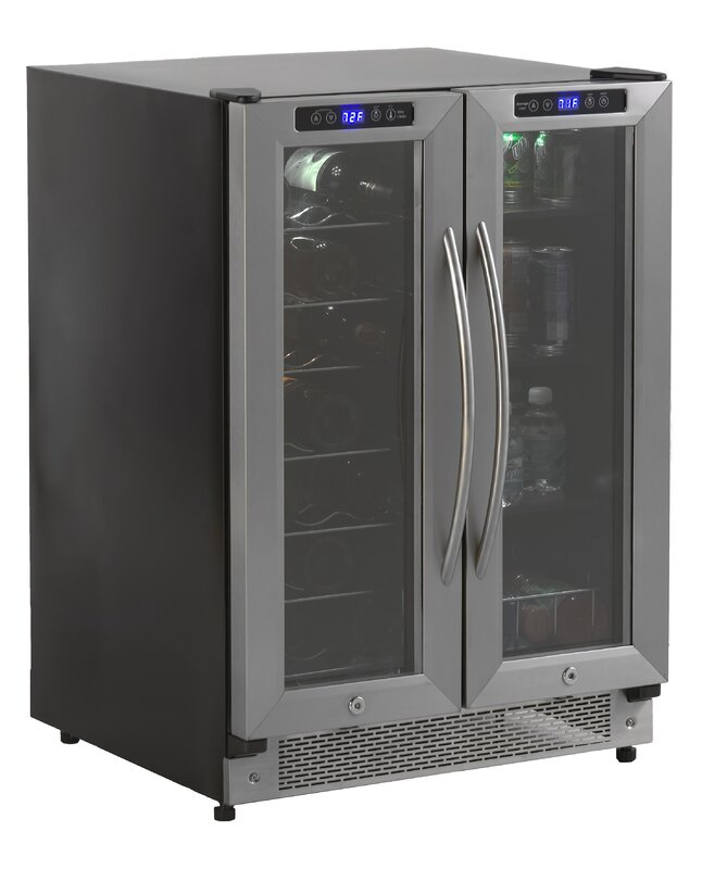 High Quality 19 Bottle Dual Zone Freestanding Wine Cooler
