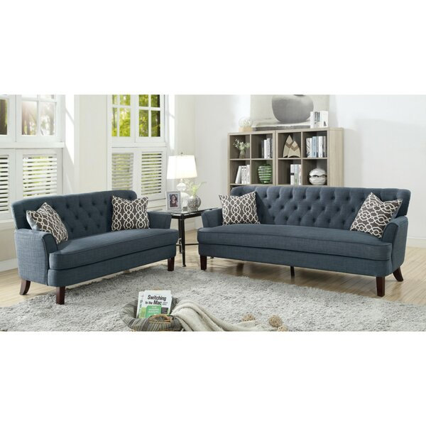 Laforest Velveteen 2 Piece Living Room Set by Alcott Hill