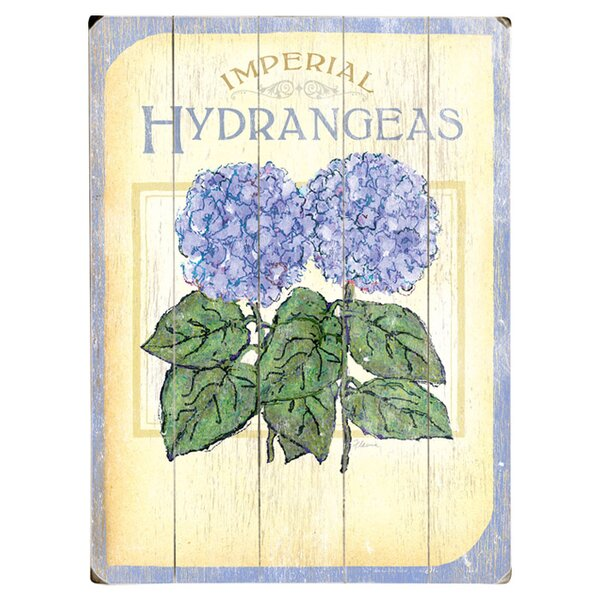Hydrangeas Vintage Advertisement Multi-Piece Image on Wood by Artehouse LLC