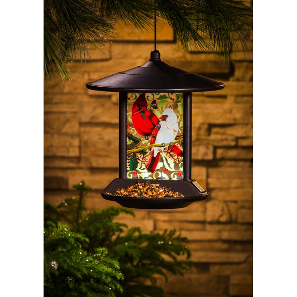 Cardinal Family Decorative Tray Bird Feeder by Evergreen Enterprises, Inc