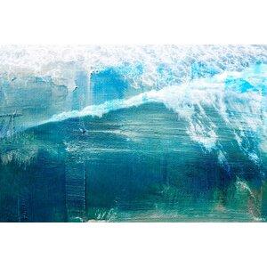'White Splashing Surf' by Parvez Taj Painting Print on Wrapped Canvas by Parvez Taj