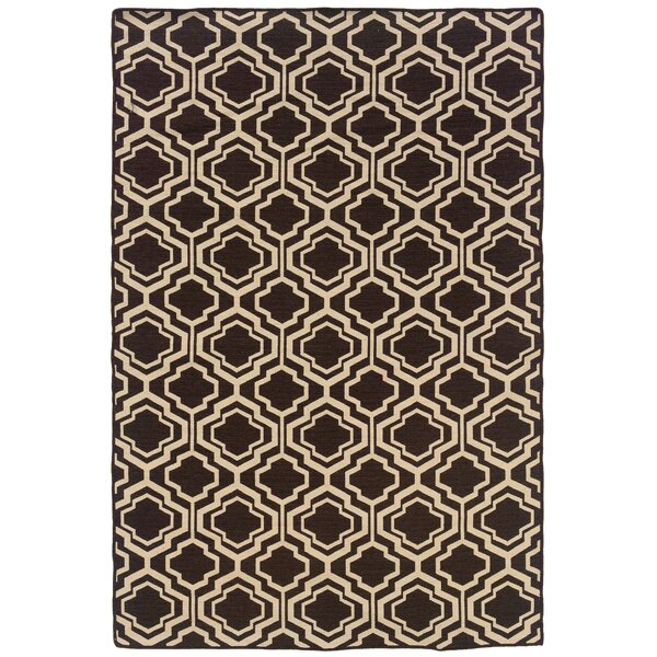 Bloomfield Hills Hand-Tufted Brown/Natural Area Rug by Darby Home Co