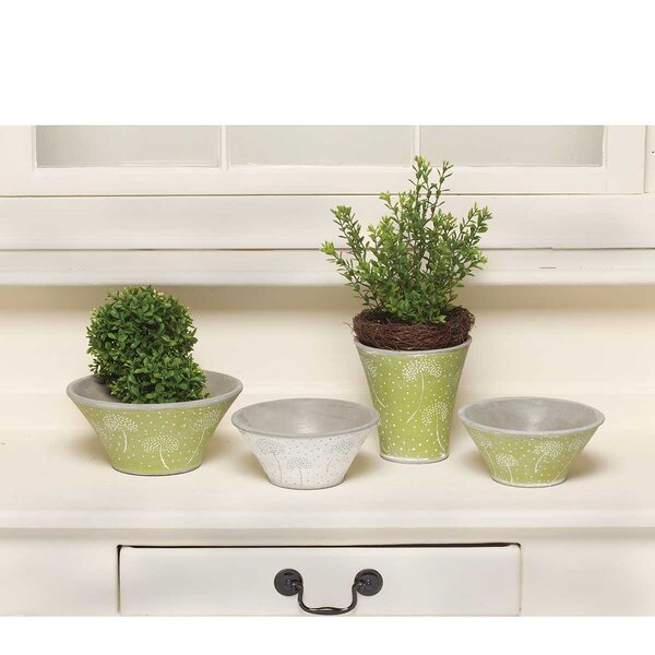 Omane-Brimpong Dandelion Bowl 4-Piece Pot Planter Set by August Grove